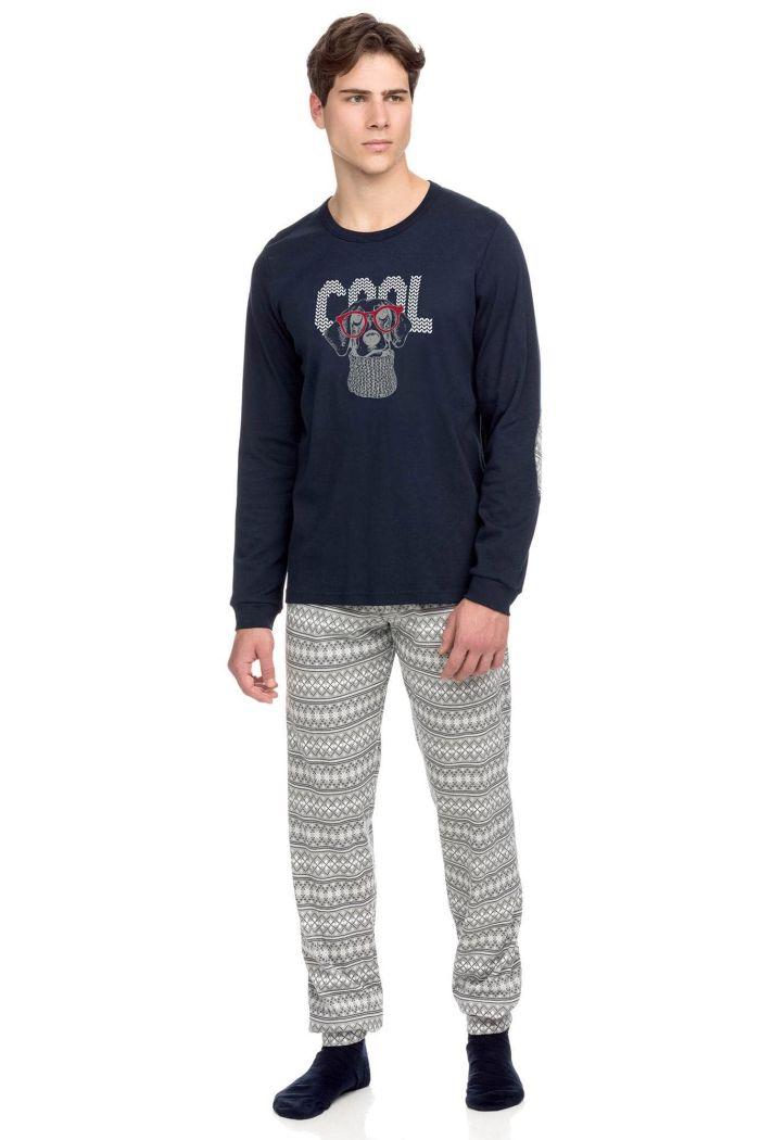 Men's Cotton Pyjamas with Artwork
