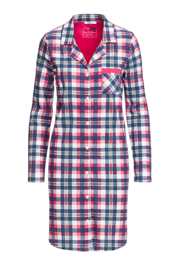 Women's Plaid Buttoned Nightgown