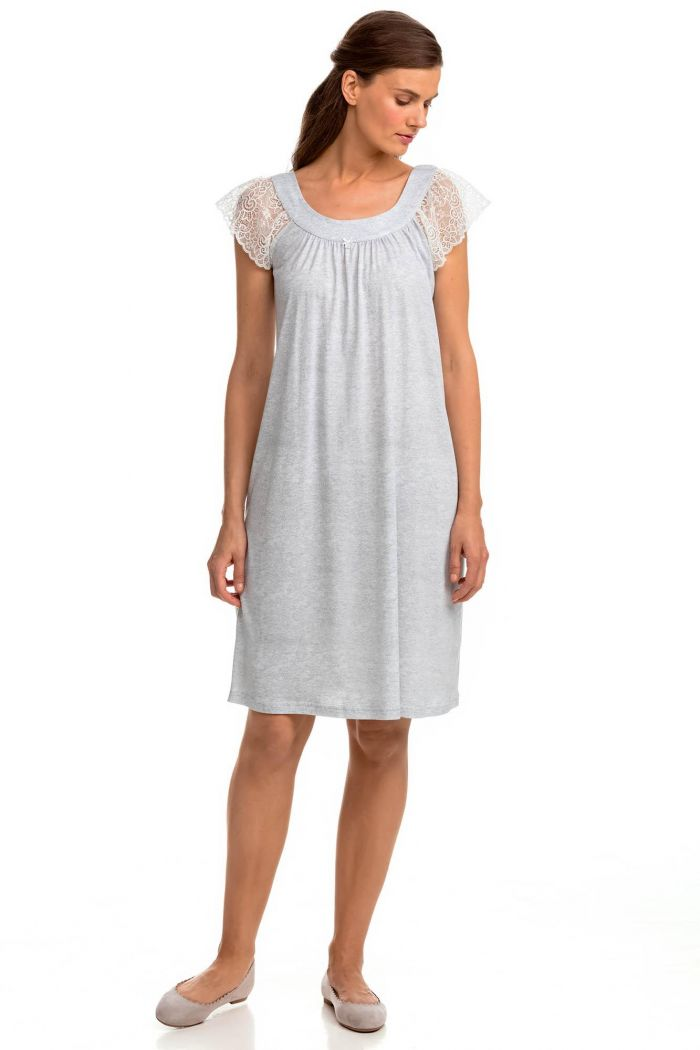 Sleeveless Nightgown with Lace Details