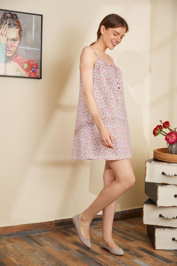 Floral Nighty with Buttons