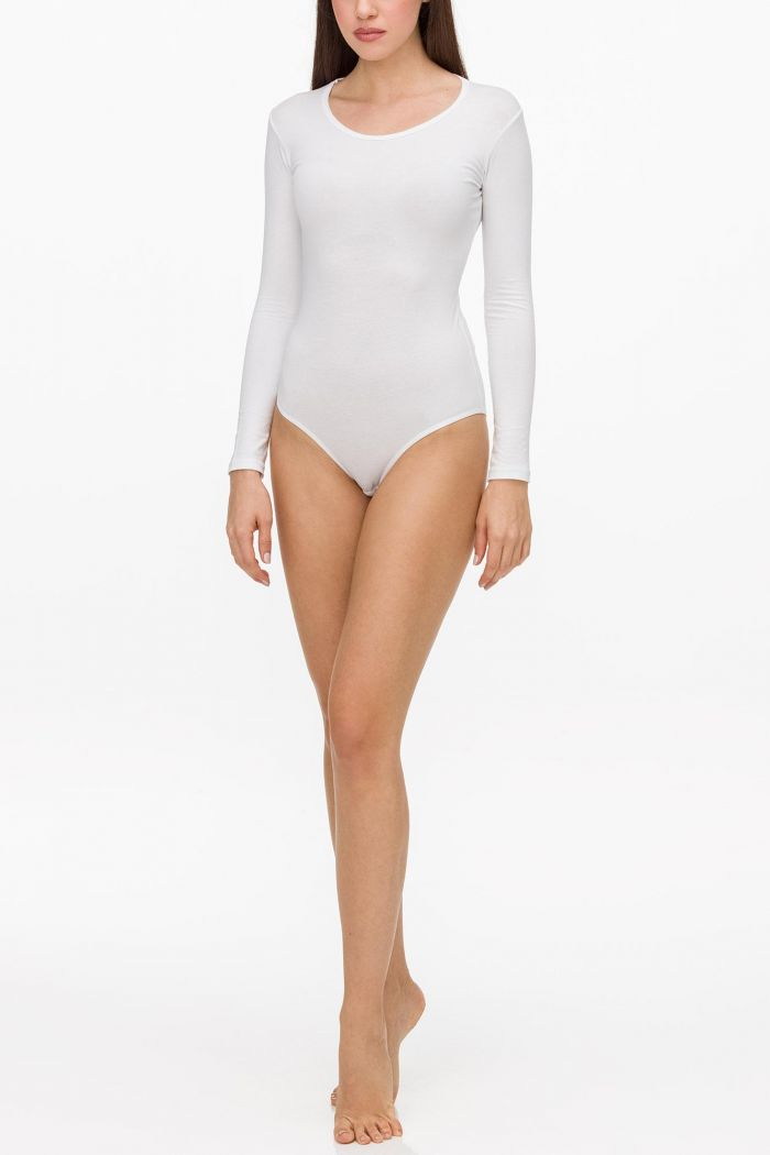 Women's Long Sleeve Cotton Bodysuit