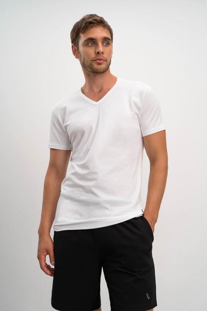 Men's 2 Pack Short Sleeved Cotton Vests