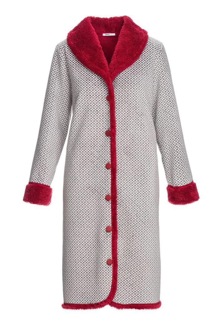 Women's Buttoned Fleece Robe