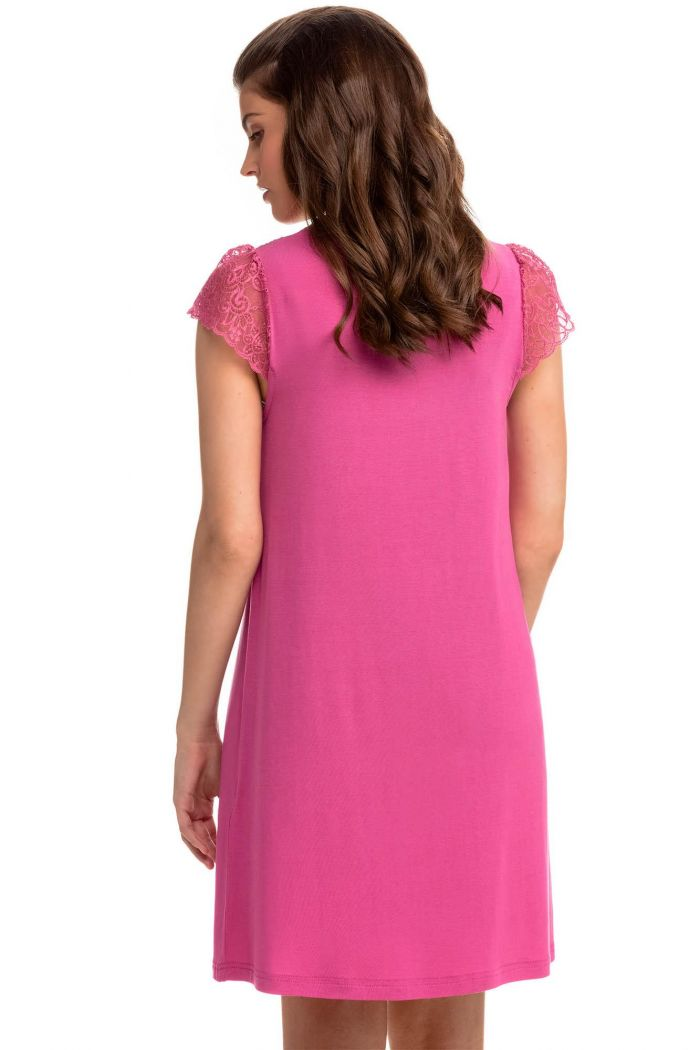 Nightgown with Lace Sleeves