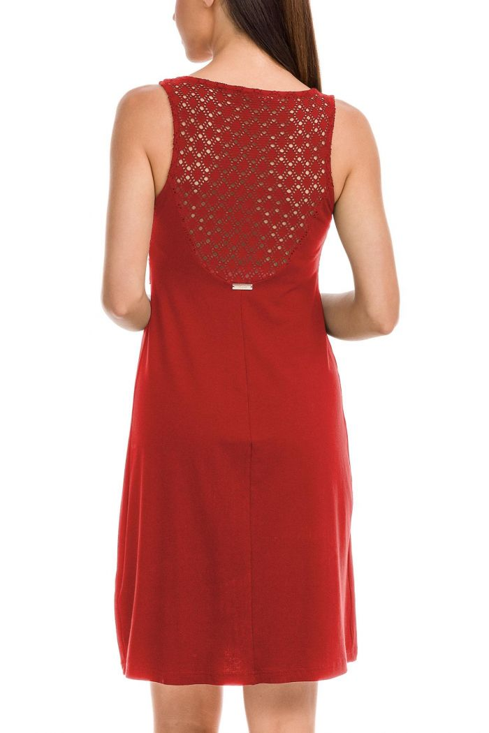 Dress with Ring and Jacquard Detail