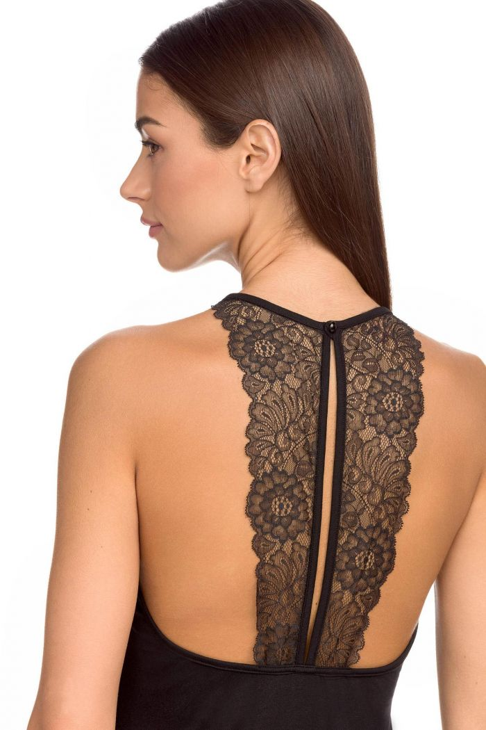 Black nightgown with lace