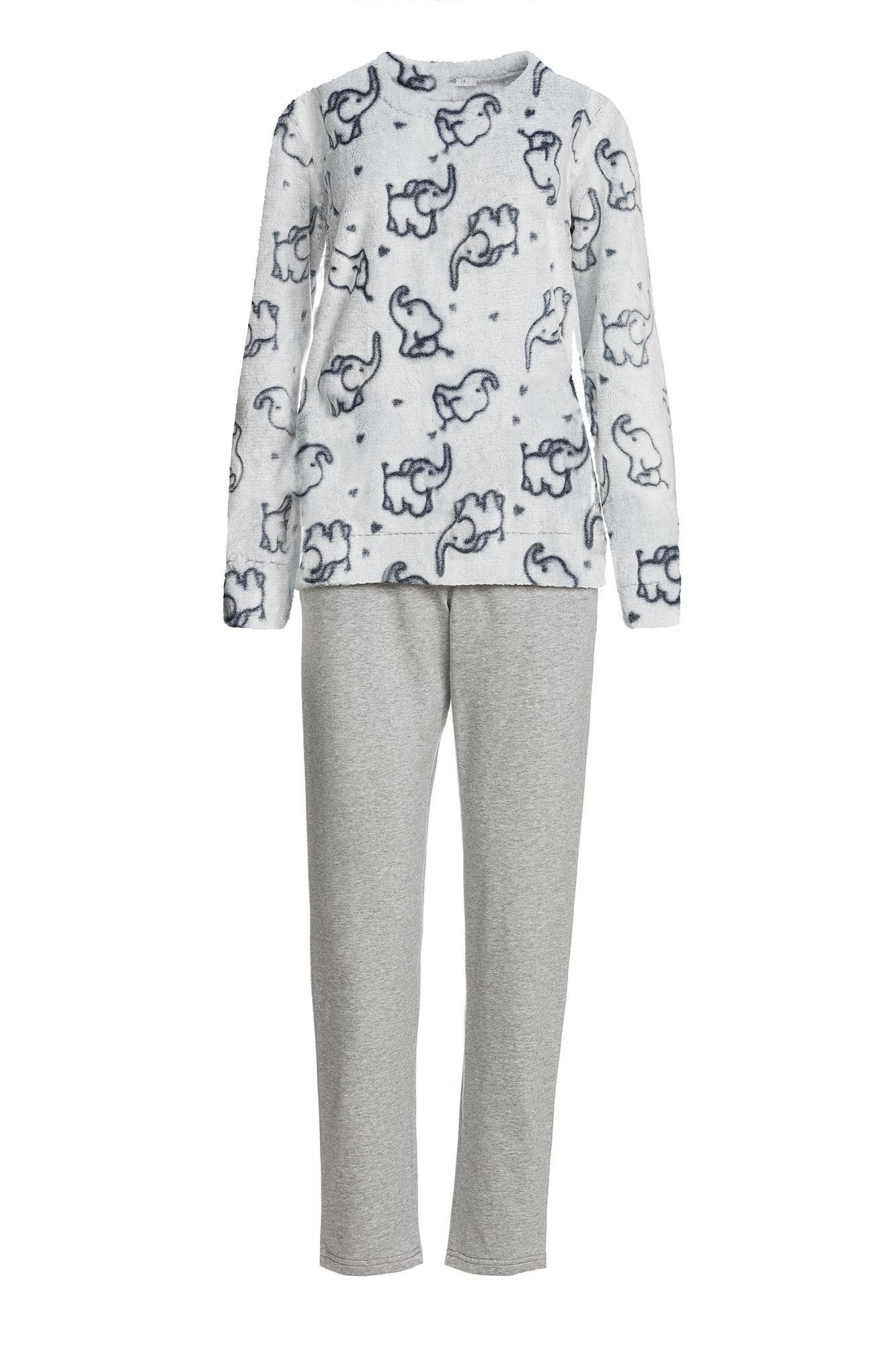 Γυναικεία Πυτζάμα Fleece Ελεφαντάκια