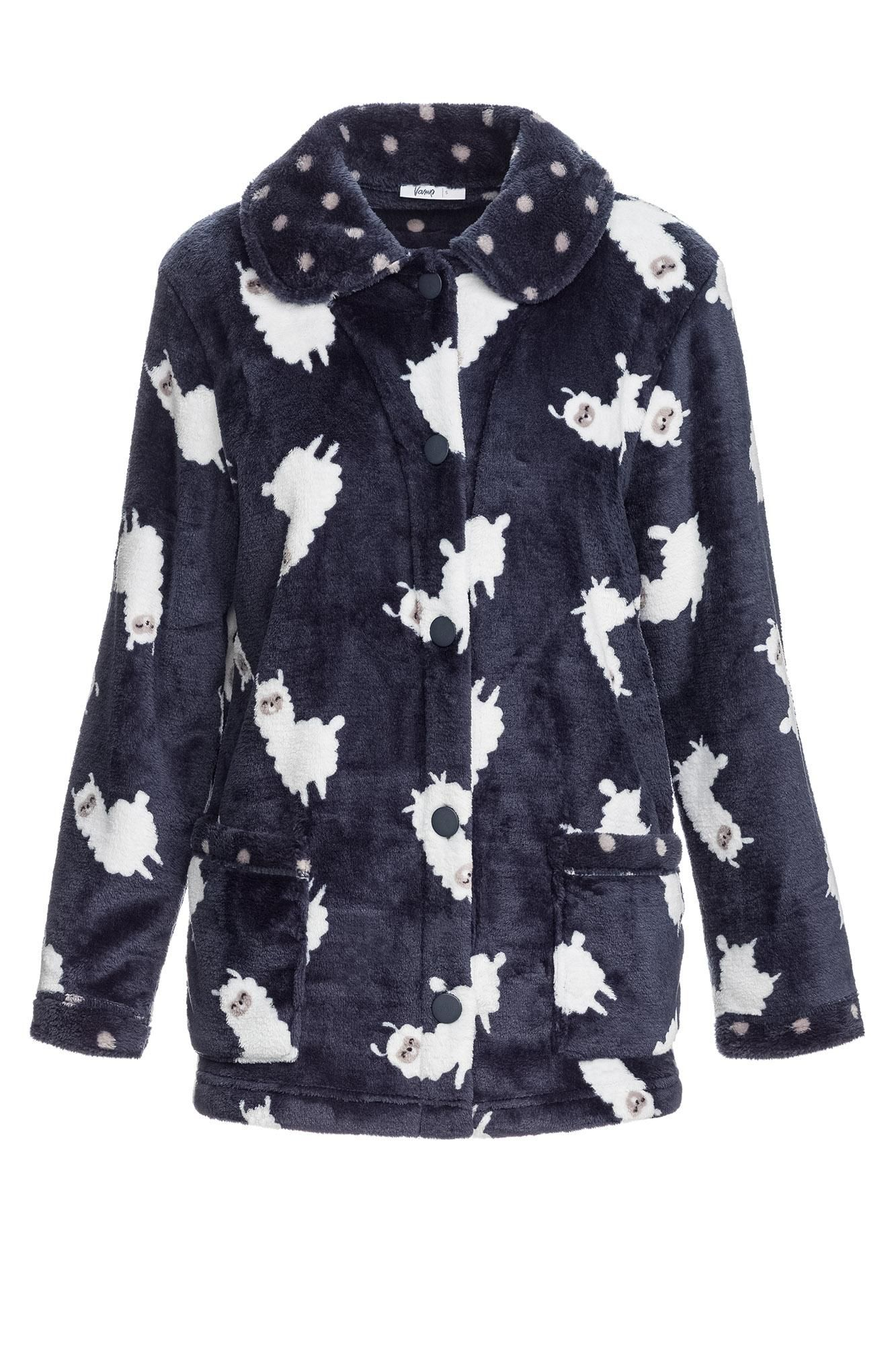 """Women's Buttoned Fleece Jacket """"Lama"""""""