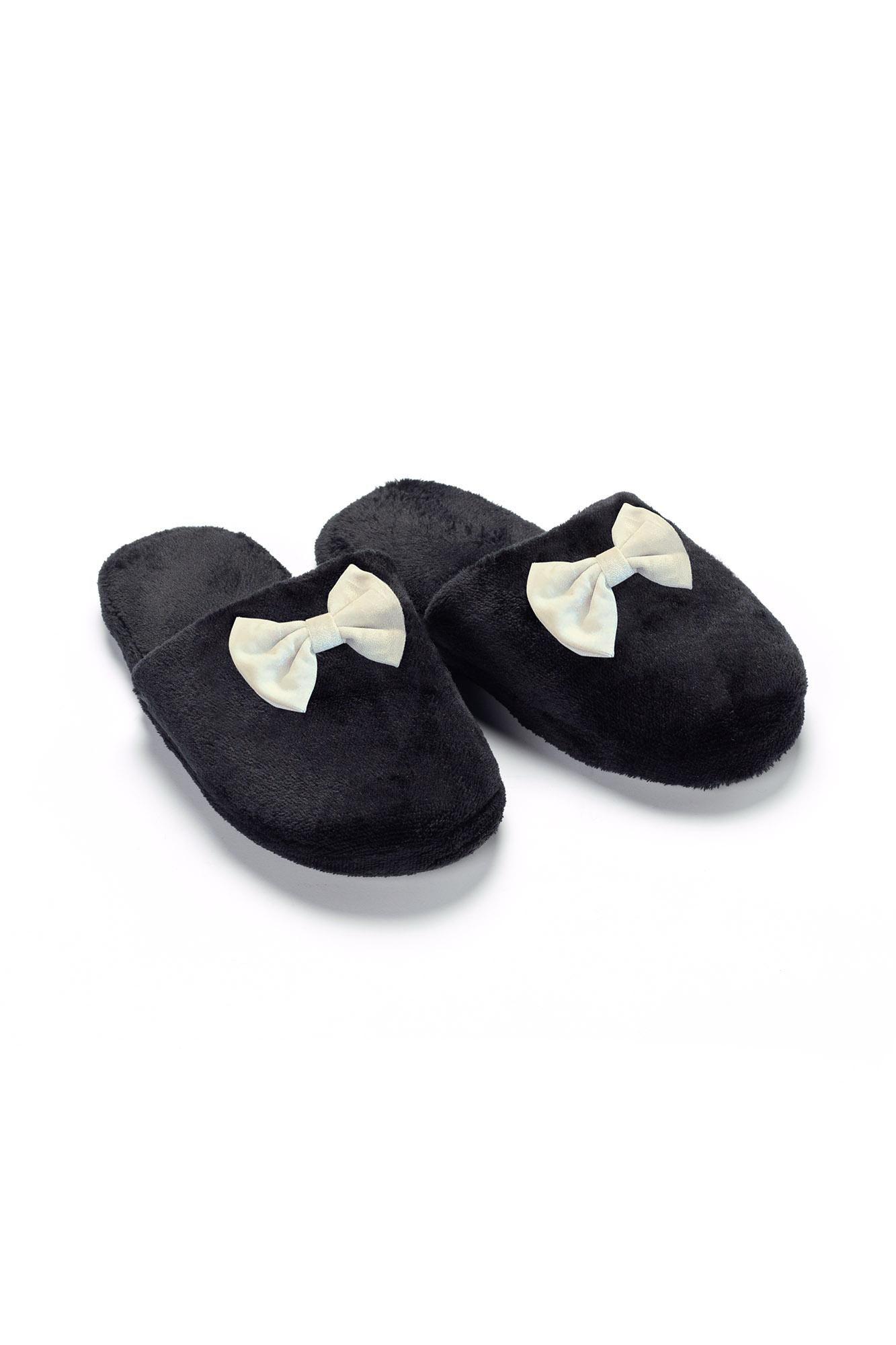 Fleece Παντόφλες με Φιόγκο