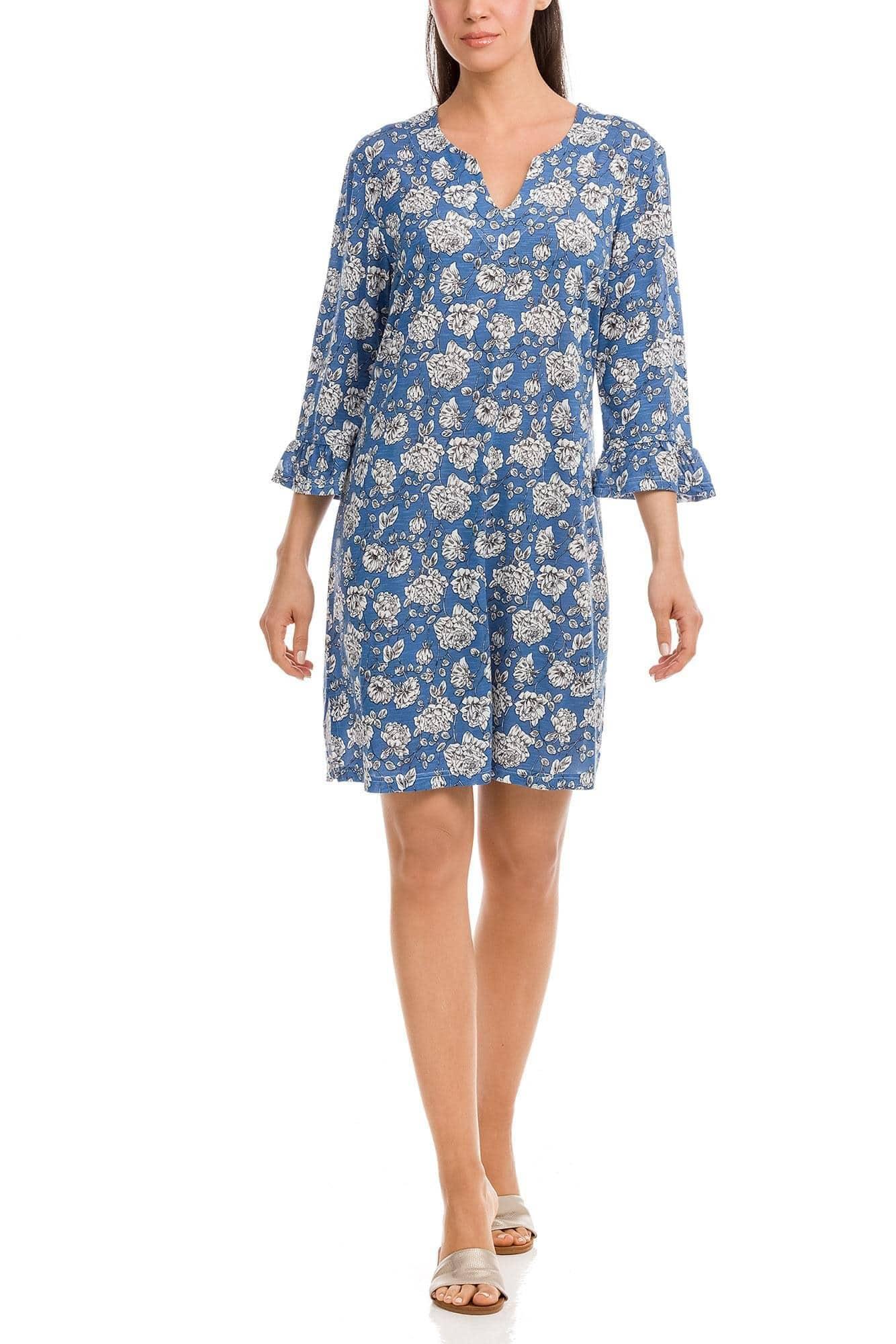 Φόρεμα Θαλάσσης Φλοράλ Plus Size