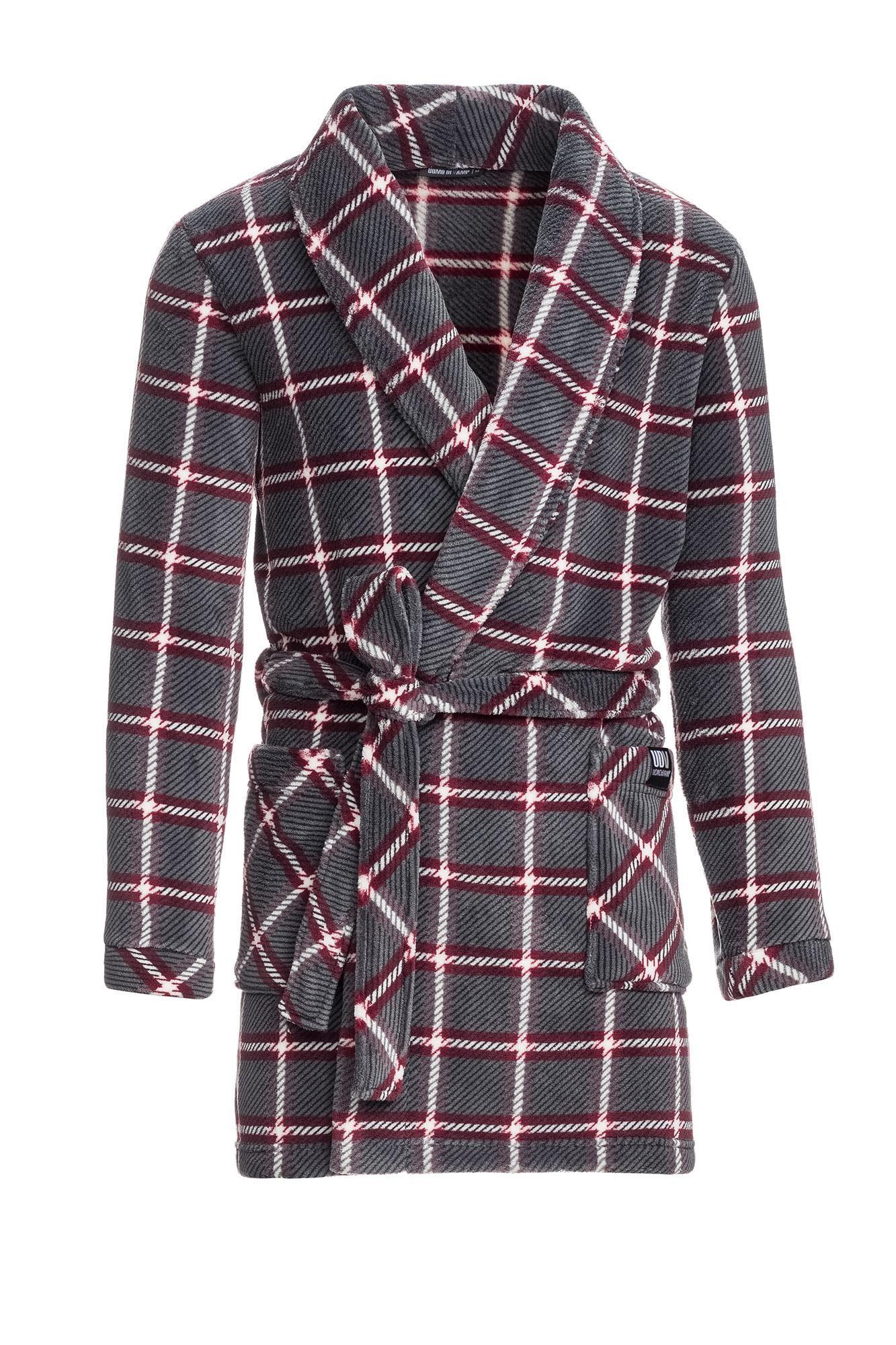 Men's Fleece Plaid Robe