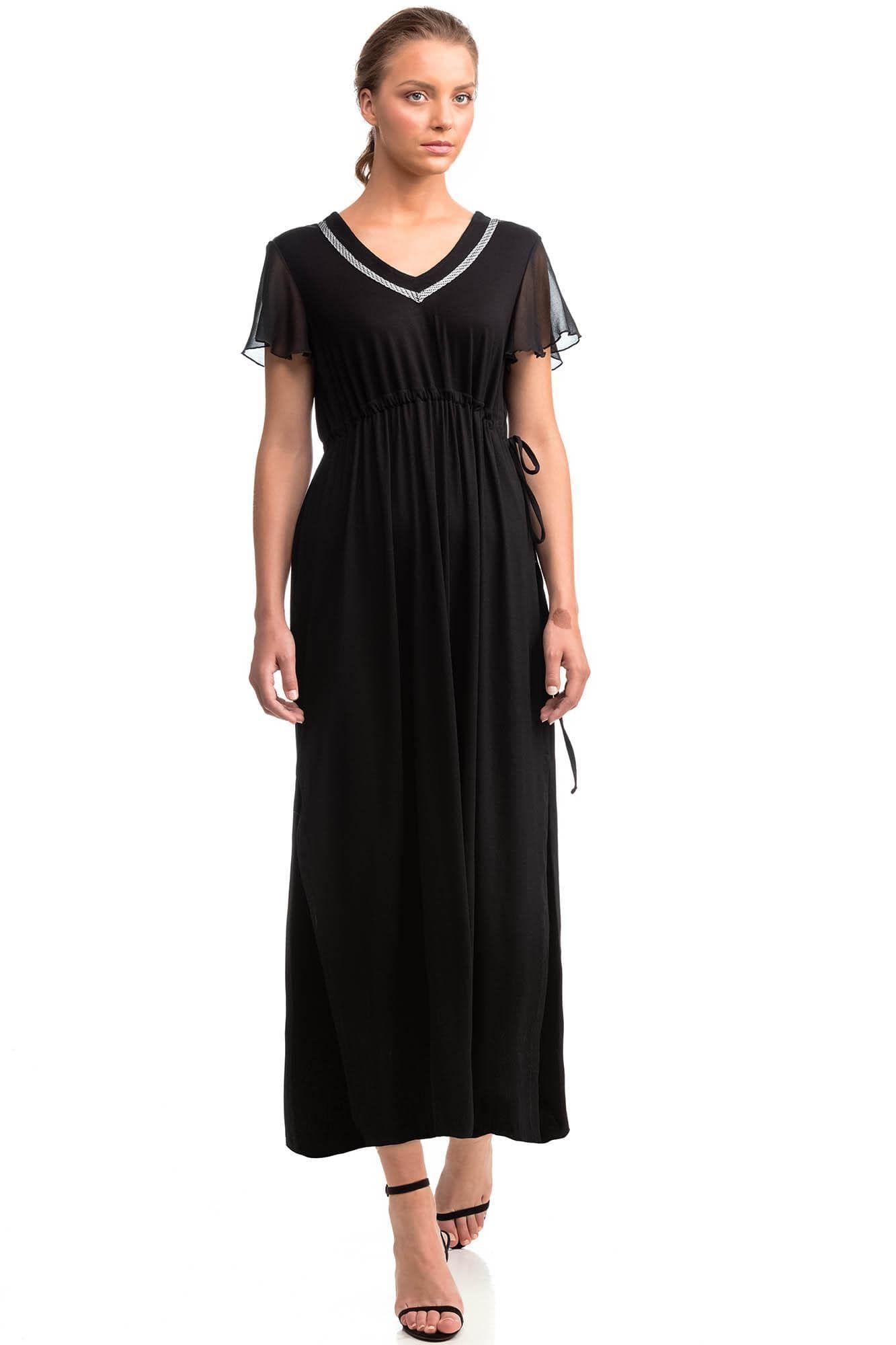 Μακρύ Φόρεμα με Σιφόν Μανίκι