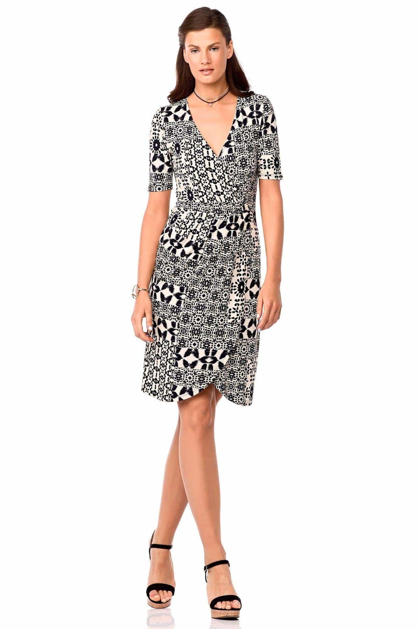 Φόρεμα Κρουαζέ Μωσαϊκό Plus Size