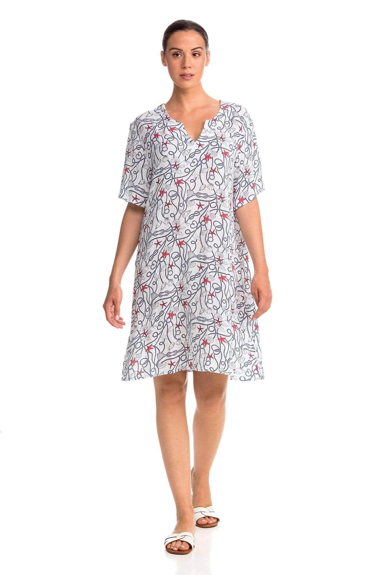 Κοντομάνικο Φόρεμα Παραλίας Marine