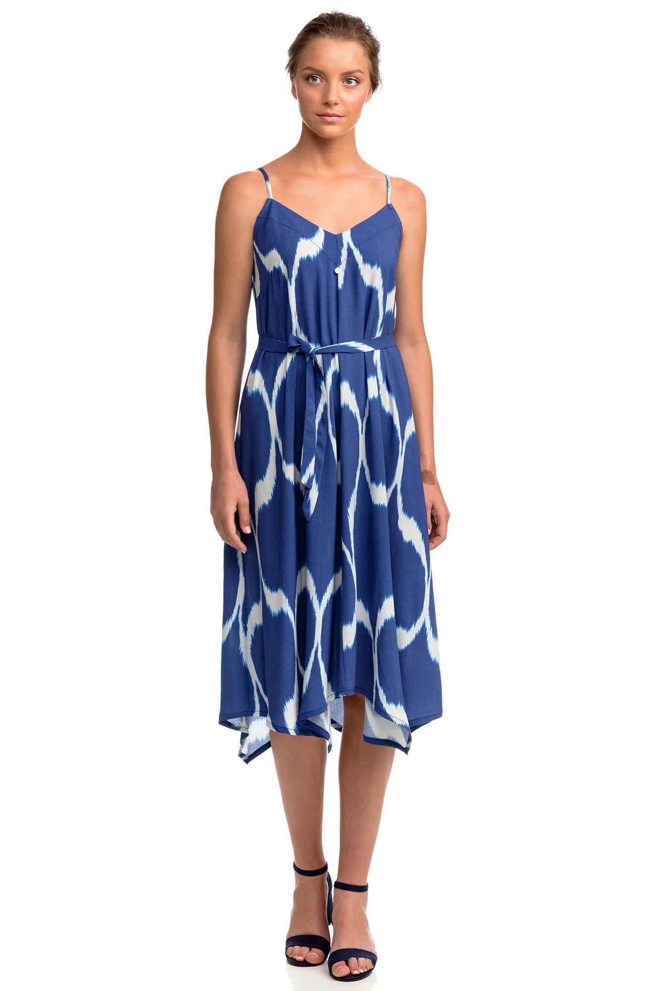 Εμπριμέ Φόρεμα με Ζωνάκι