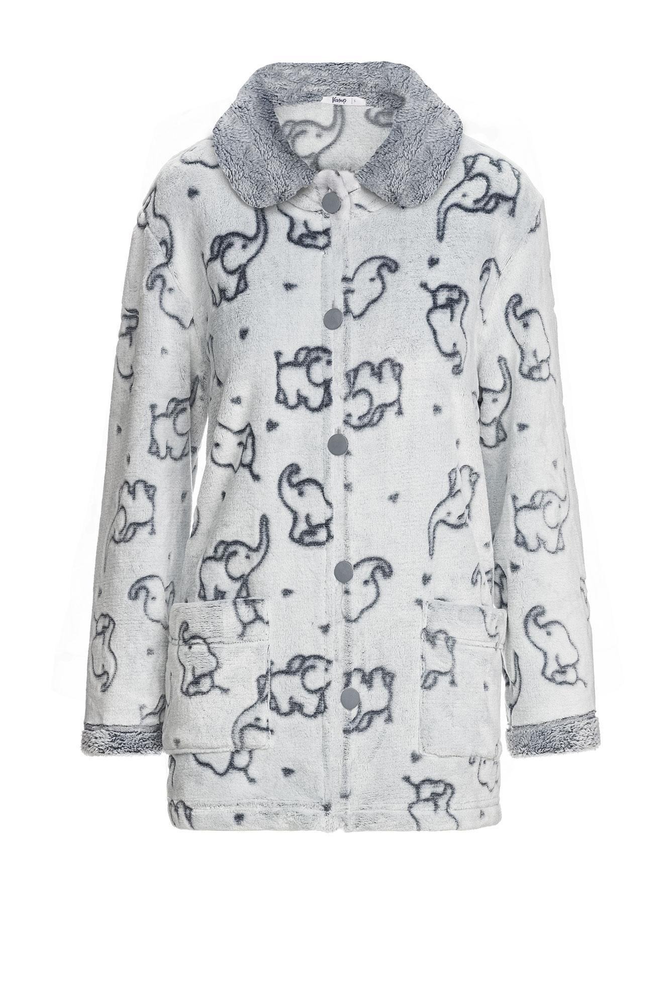 Women's Fleece Buttoned Robe