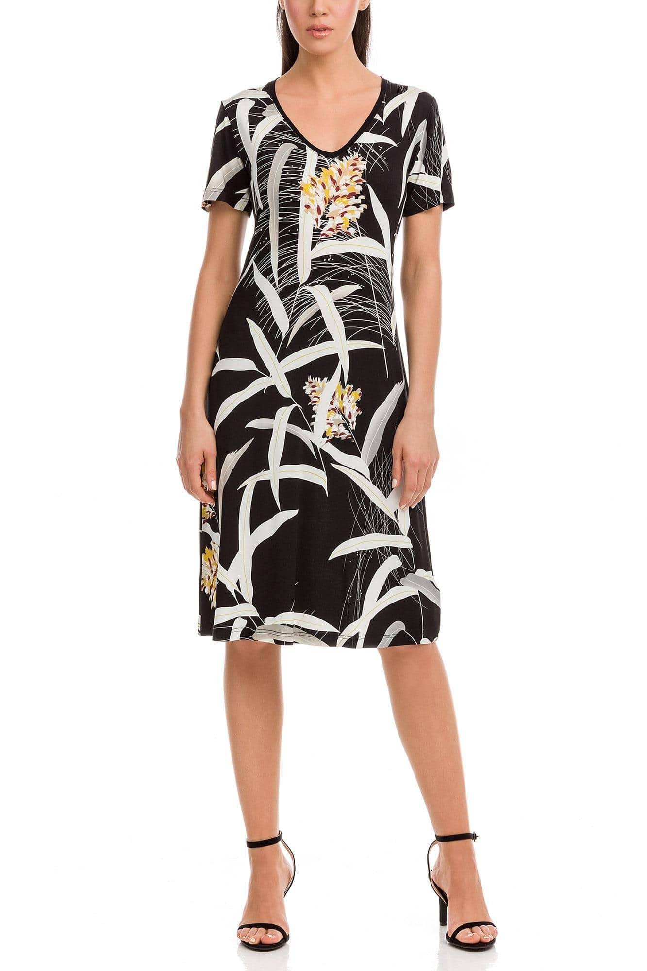 Κλασικό Φόρεμα Εμπριμέ Plus Size