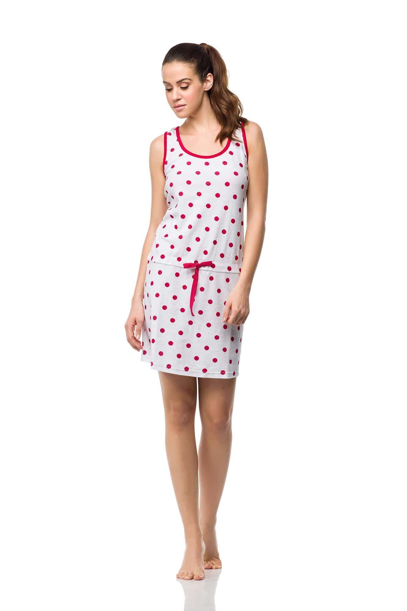 Polka Dot Frottee Beach Dress