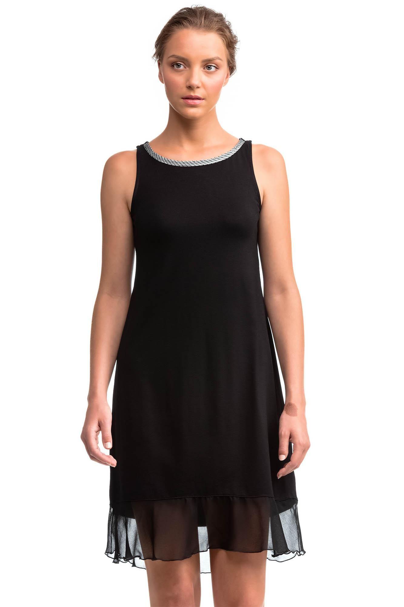 Αμάνικο Φόρεμα με Βολάν