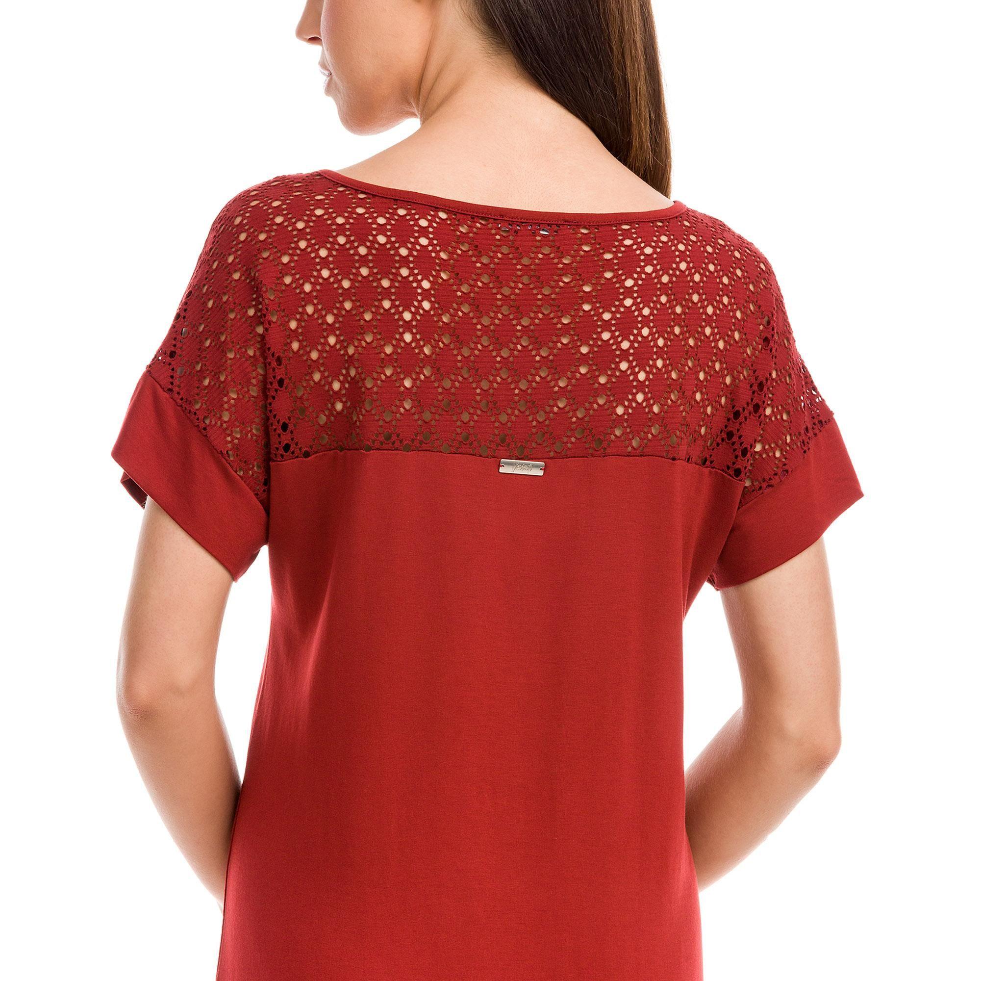 Φόρεμα με Ζακάρ Plus Size