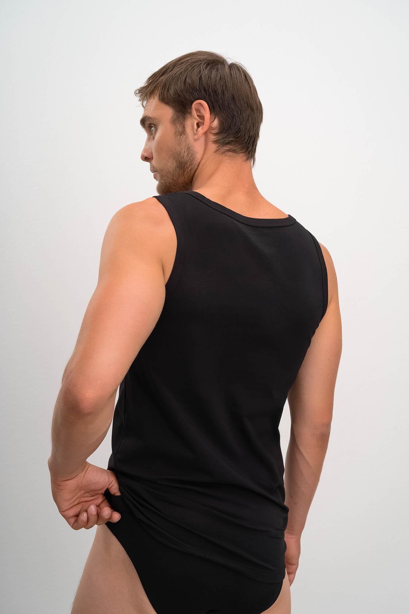 Men's 2 Pack Sleeveless Cotton Vests