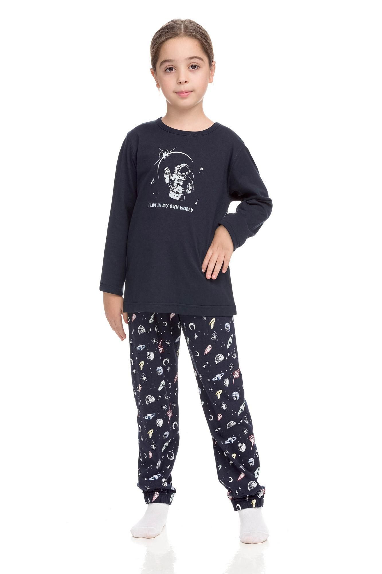 Kid's Cotton Pyjamas with planets