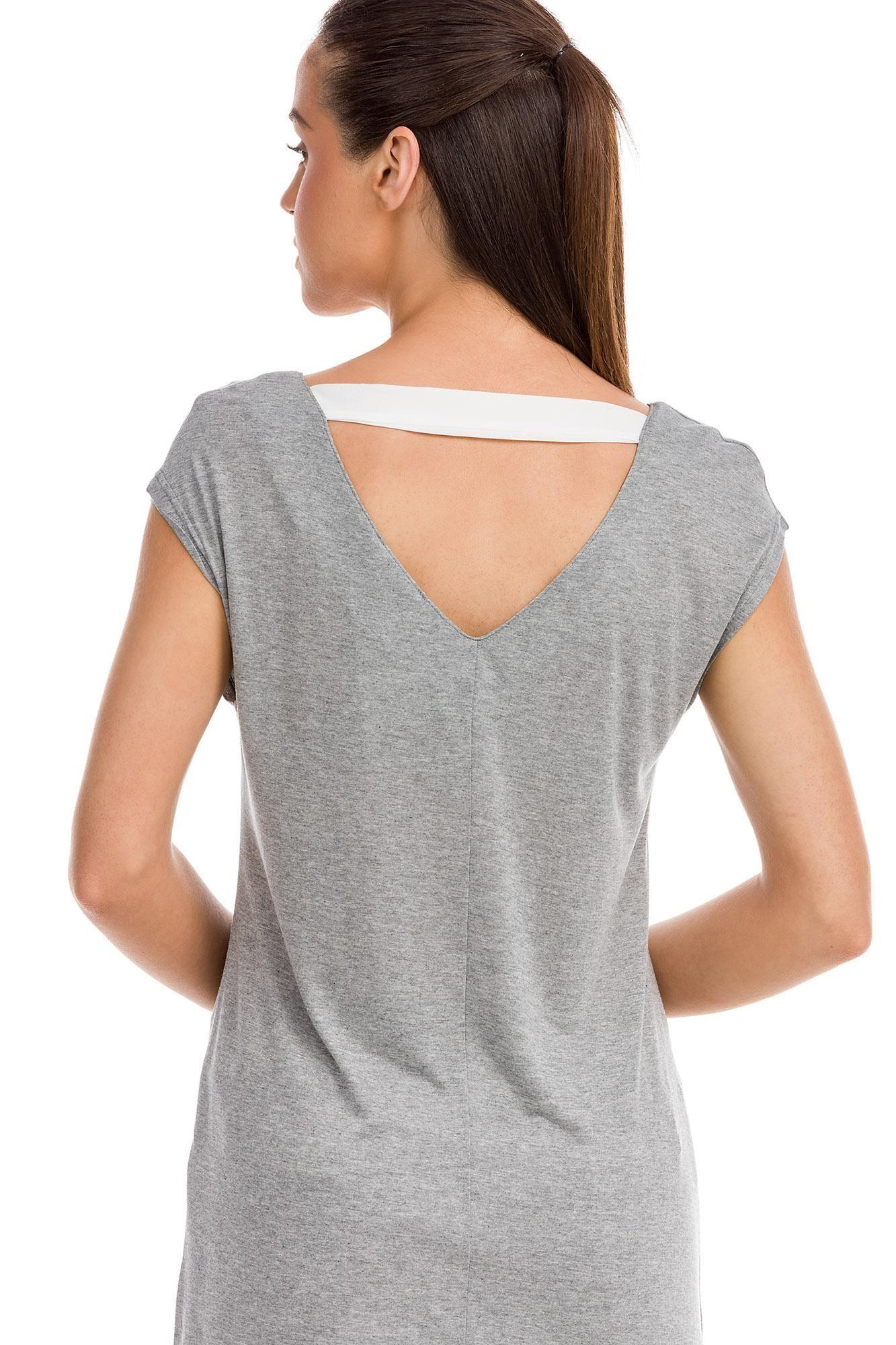 Κοντομάνικη Μπλούζα με Τσέπη