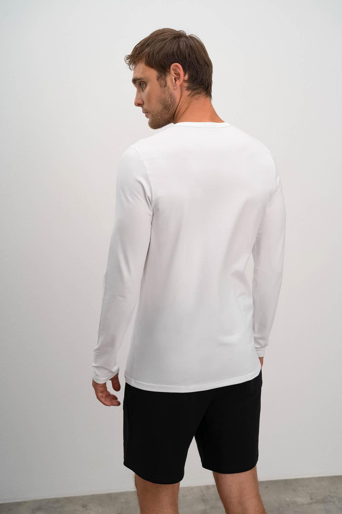 Men's 2 Pack Long Sleeve Cotton Vests