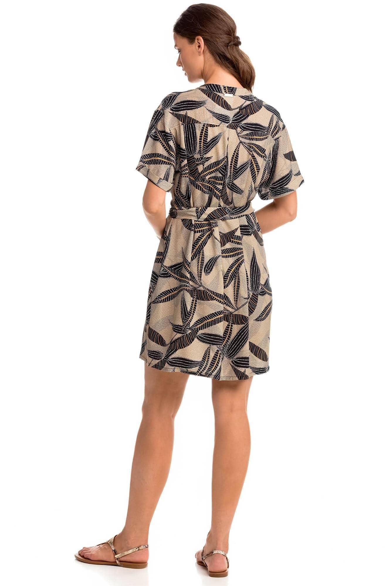 Κουμπωτό Φόρεμα με Ζώνη