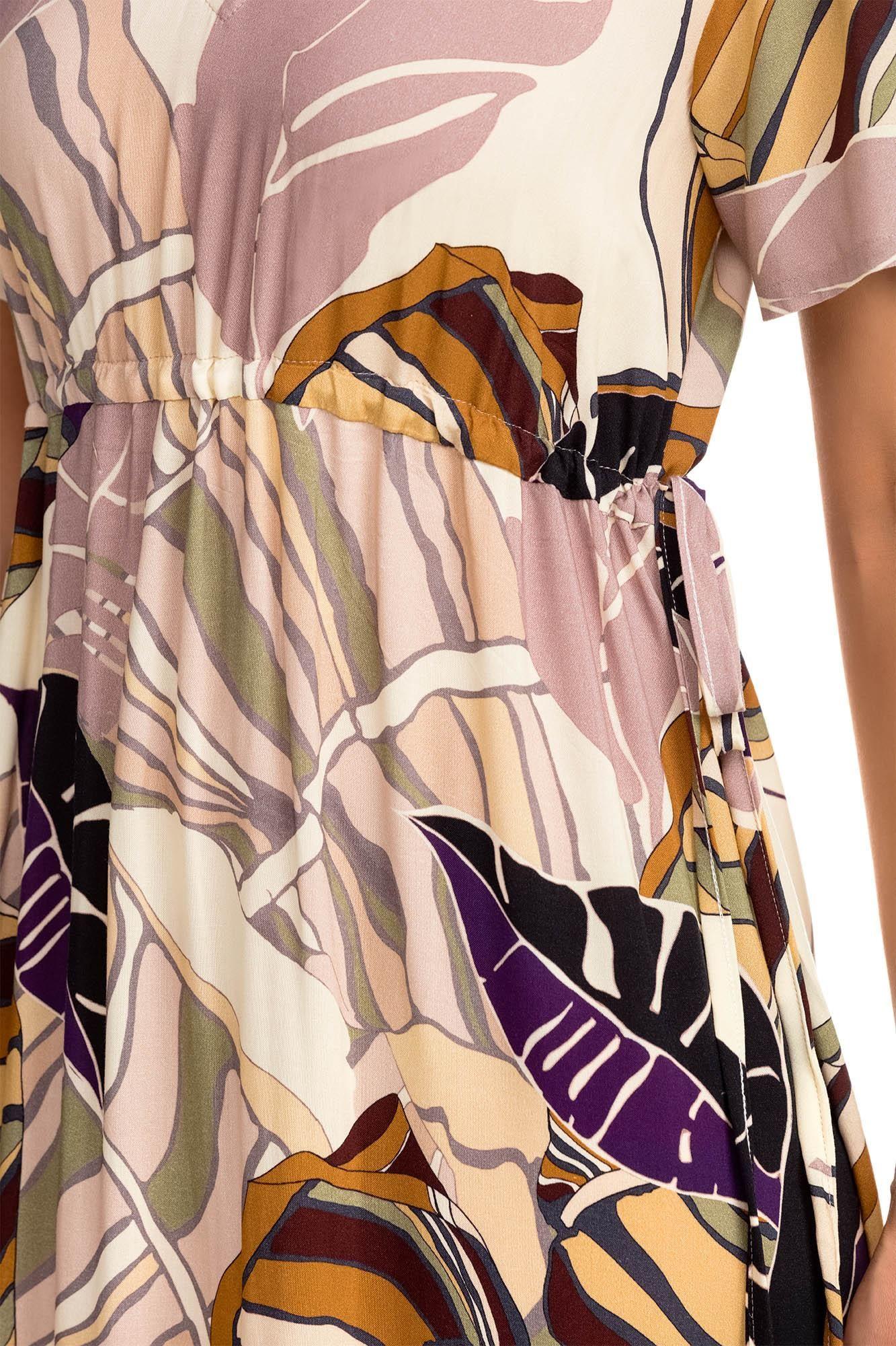 Μάξι Εμπριμέ Φόρεμα