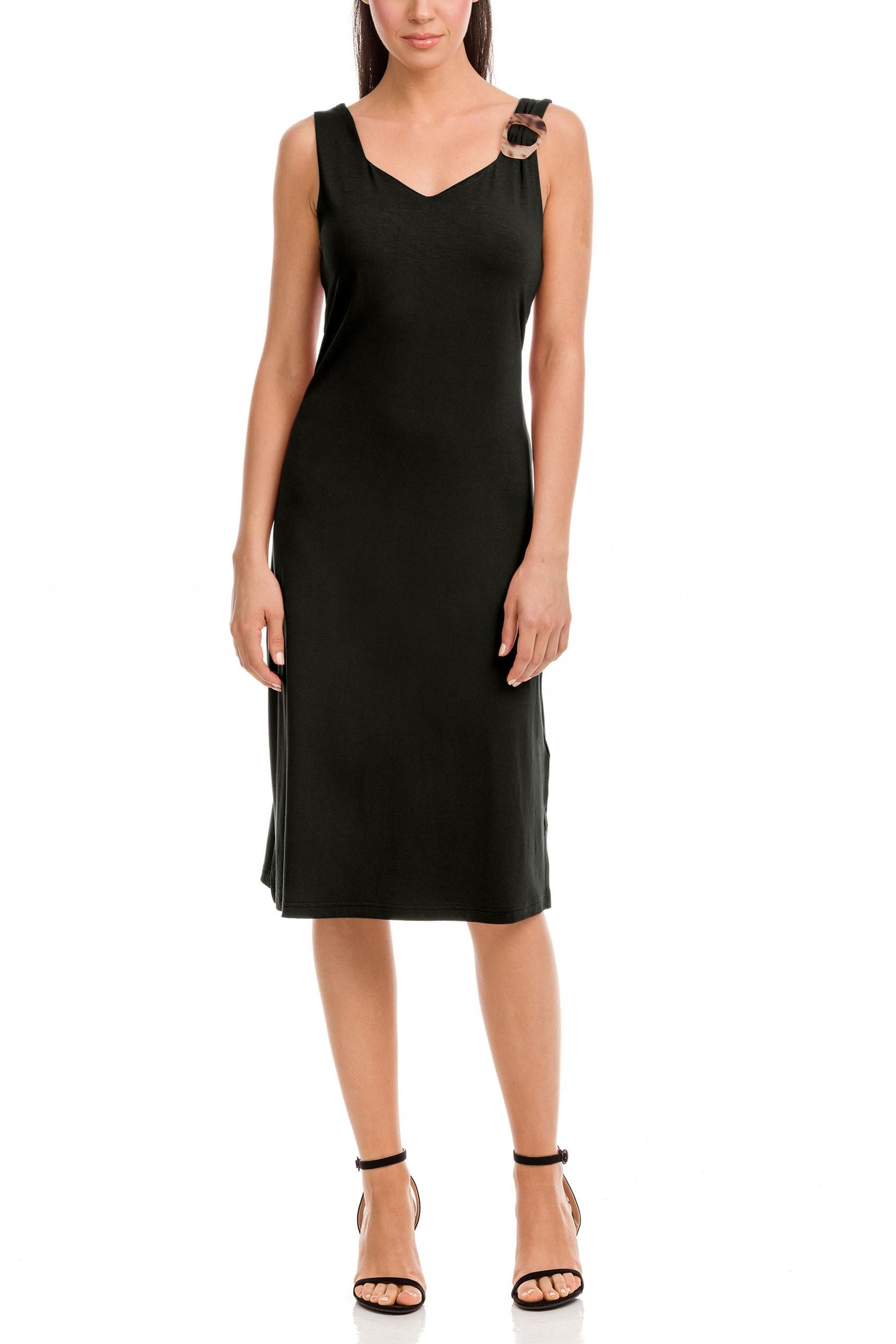 Φόρεμα Αμάνικο Μονόχρωμο Plus Size