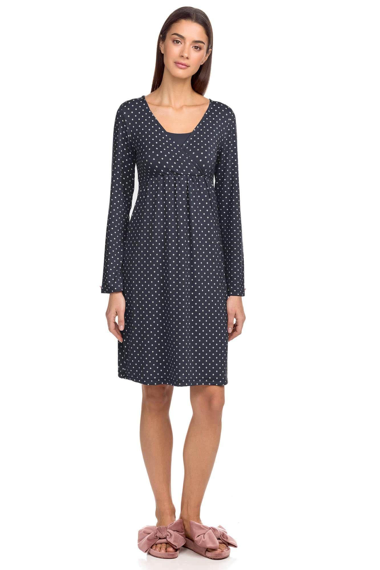 Polka dot Maternity Nightgown