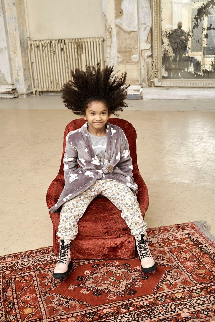 Kid in pyjamas